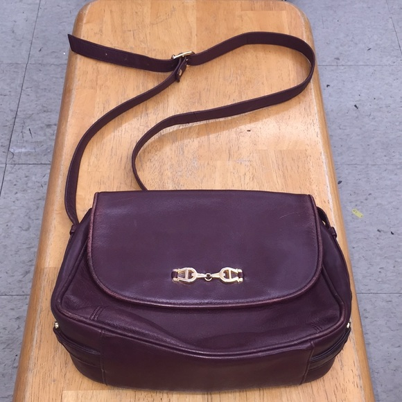 Aigner Crossbody bag gold colored leather